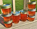 Stacked crab apple jelly on deck.jpg