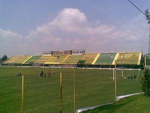 Stadionul Orășenesc (Mioveni) - Image: Stadionul dacia din mioveni 2