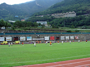 Athletics at the 2005 Games of the Small States of Europe - Image: Stadium andorra