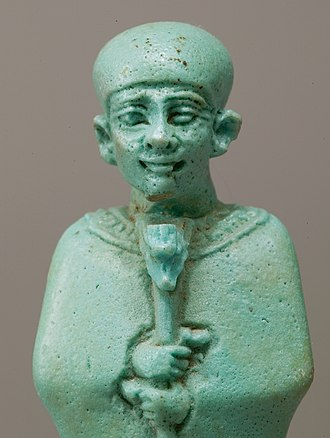 Manetho - Statuette of Ptah (Metropolitan Museum of Art, New York City), whom Manetho merged with the Greek Hephaestus.