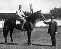 "StateLibQld 1 His Royal Highness, the Prince of Wales on ""Ladomond"" at Ascot Racecourse, Brisbane in 1920.jpg"