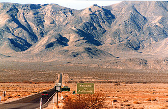 California State Route 178 - Looking west from the state line