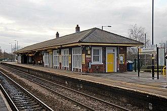 St Helens Junction railway station - Image: Station building, St. Helens Junction railway station (geograph 3818805)