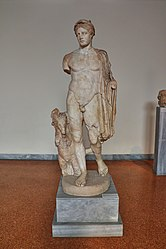 Statue of Hermes (2nd cent. A.D.) in the National Archaeological Museum of Athens on 2 July 2018.jpg