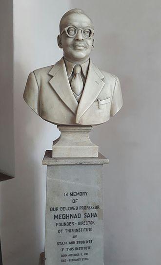 Meghnad Saha - Statue of Meghnad Saha, Rajabajar Science College