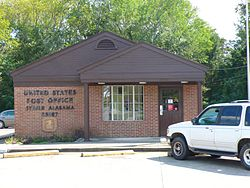 The U.S. Post Office in Steele, Alabama