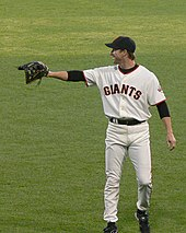 Steve Finley in a San Francisco Giants uniform