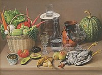 Still-life by Jose Agustin Arrieta, San Diego Museum of Art.JPG