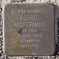Stolperstein Arnstadt Karl-Marien-Straße 26-Alfred Wolfermann.JPG