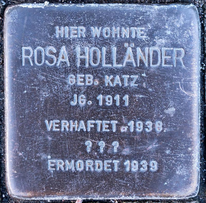 Stolperstein Saalfeld-Saale Wiegandstraße 1 Rosa Hölländer.jpg
