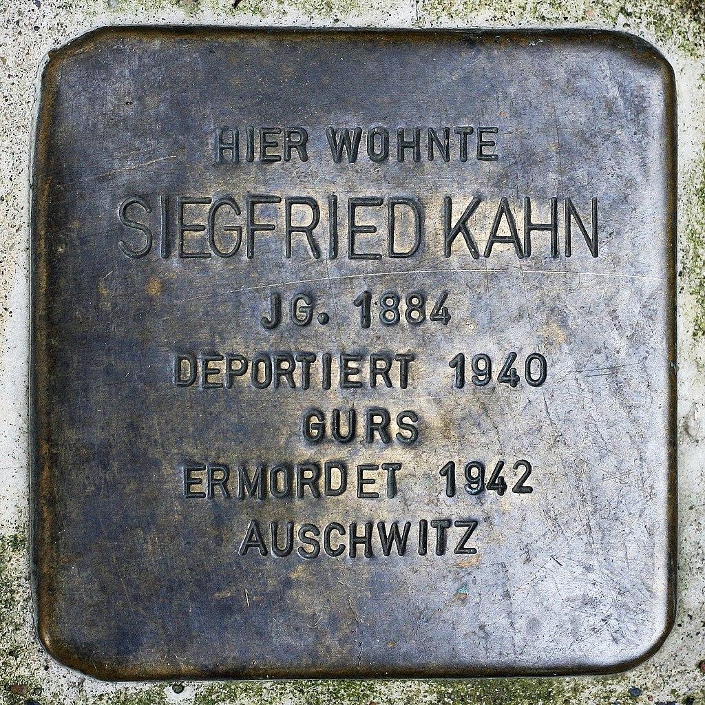 Stolperstein Siegfried Kahn Müllheim.jpg