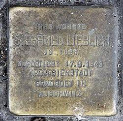 Photo of Siegfried Lieblich brass plaque