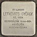 Stolperstein für György Lefkovits (Nyíregyháza).jpg