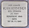 Stolperstein für Klara Wertheimer (Heidelberg).jpg