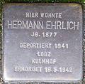 Stolpersteine Köln, Hermann Ehrlich (Nußbaumerstraße 7).jpg