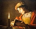 Stom - A Young Man Reading at Candlelight.jpg