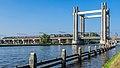 Stoomlocomotief BR 01 1075 van de VSM - Gouwespoorbrug of Hoge Gouwebrug - Gouda. (22072481015).jpg