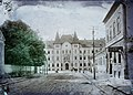 Strada 20 Decembrie 1989 a Piata Victoriei felé nézve, szemben a Magyar Királyi Pénzügyi igazgatóság épülete. Fortepan 86664.jpg