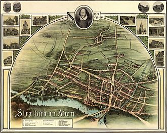 Stratford-upon-Avon - Historic map of Stratford in 1902