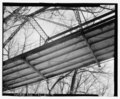 Stringers and bottom lateral bracing, east end - Sulphur Fork Creek Bridge, Spanning Sulfur Fork Creek on Spring Road, Port Royal, Montgomery County, TN HAER TN-27-9.tif