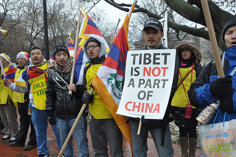 File:Students for a Free Tibet Protesters marched to Lafayette Park from the Chinese Embassy in D.C. 自由西藏學生運動抗議者於美國華府從中國大使館遊行至拉法葉公園.jpg