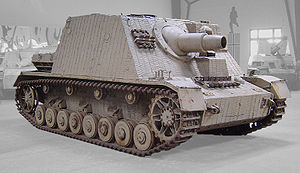 Brummbär - Sturmpanzer, displayed at the Musée des Blindés, Saumur, France.