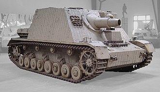 Brummbär - Sturmpanzer, displayed at the Musée des Blindés, Saumur, France.