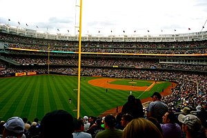 Subway Series - A full house at the new Yankee Stadium for a Subway Series game against the Mets on June 13, 2009. The Mets won the game 6-2.