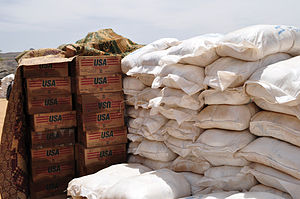 Aid from USAID and the UN's World Food Program...