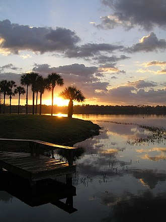 Rollins College - Sunrise over Lake Virginia from Rollins College campus