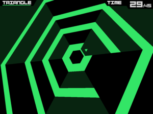 Super Hexagon - Super Hexagon on the iPad