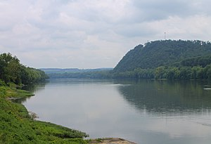 Susquehanna River - Looking upstream in Danville, Pennsylvania