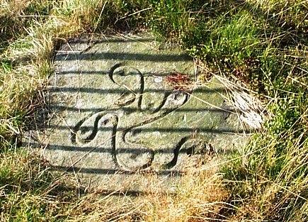 Swastika Stone, Ilkley (reproduction) - geograph.org.uk - 48282 crop