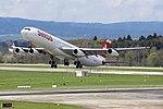 Swiss International Air Lines Airbus A340-313 HB-JMA (26794267360).jpg