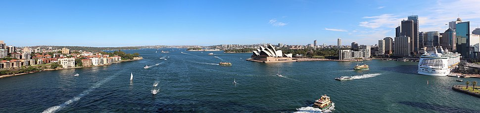 View of Sydney from the Sydney Harbour Bridge