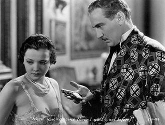 City Streets (1931 film) - Sylvia Sidney and Paul Lukas in a scene from the film.