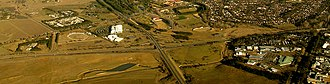 Symonston, Australian Capital Territory - Aerial view from east