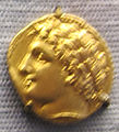 Syrakus, dracma d'oro di agathokles, 317-310 ac. ca.JPG