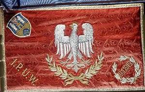 Sztandar 15 pułku ułanów lewa