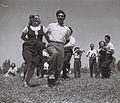"THE ""BNOT YERUSHALAYIM"" FOLK DANCE TROUPE, PERFORMING AT KIBBUTZ DALIA. להקת המחול ""בנות ירושלים"" מופיעה בקיבוץ דליה.D827-016.jpg"