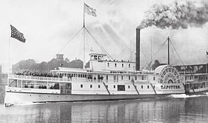 Wide West - T.J. Potter, the steamer constructed with the upper works and machinery of Wide West.