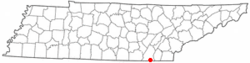 Location of East Brainerd, Tennessee