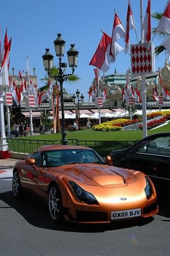 TVR Sagaris in Monte Carlo