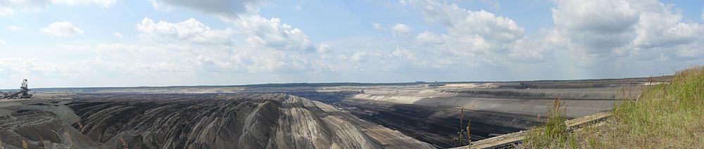 an open pit lignite mine - lovely,isn't it?