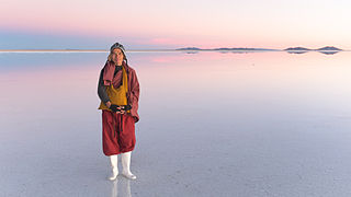 Taiwanese Monk at the Salar of Uyuni, Bolivia