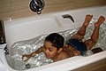 Taking a bath on bathtub at Stockholm (01).jpg