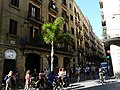 Tallers 45 i grup de turistes en bicicleta P1200600.jpg