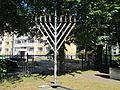 Tallinn Synagogue - Menorah.JPG
