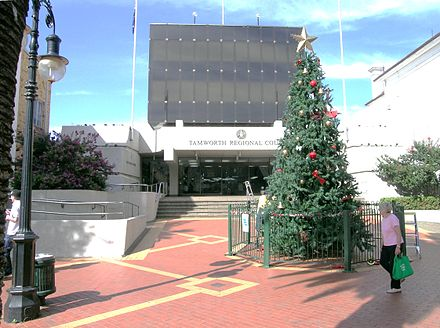 Tamworth Regional Council Building in Peel Street Tamworth RC.JPG