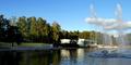 Tapiolan uimahalli auringonlasku 2019-9-22.png